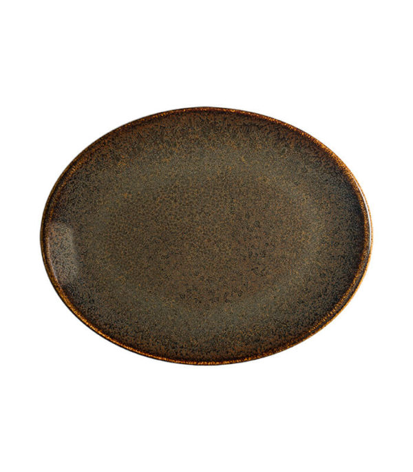 Bandeja Ovalada Ore Tierra 31 cm Vajilla Bonna