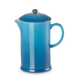 Cafetera con prensa Azul Marseille Le Creuset