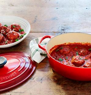 Albondigas de pavo en salsa de tomates frescos y albahaca